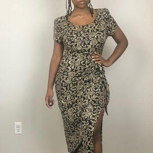 Jessica Howard wrap midi dress with side slit 10